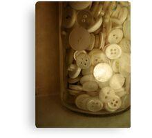 Vintage Button Jar Canvas Print