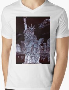 I Love NYC! Mens V-Neck T-Shirt