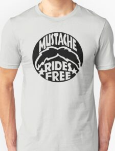 FUNNY T SHIRT MUSTACHE RIDES FREE DIRTY RUDE MOUSTACHE T-Shirt