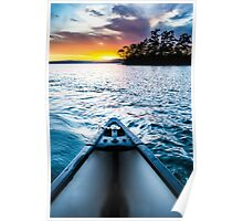 Canoeing in Paradise Poster