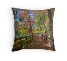 A Pleasant Fall Day Throw Pillow
