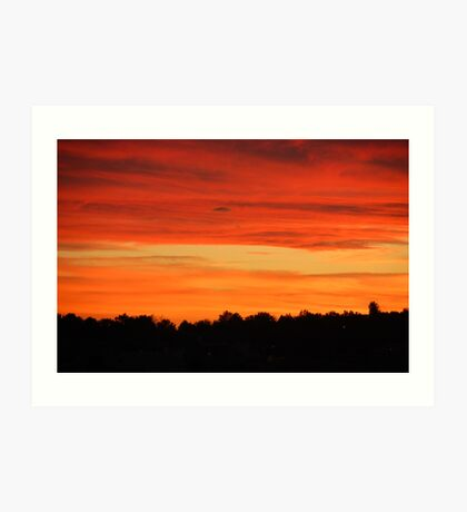 Smoky Sunset 2 Art Print
