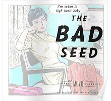 Retro Housewife Humor The Bad Seed Poster