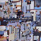 Gridlock, abstract oil on canvas by Regina Valluzzi