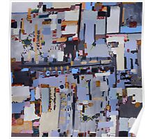 Gridlock, abstract oil on canvas Poster