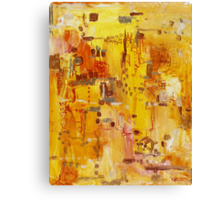 Yellow Conundrum, oil on canvasboard Canvas Print