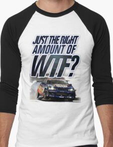 Just the right amount of WTF? Men's Baseball ¾ T-Shirt