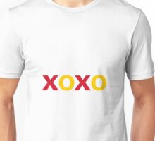 Hugs and Kisses - red yellow Unisex T-Shirt