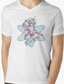 Space Babe Mens V-Neck T-Shirt