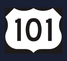 US Route 101 - California - Highway Road Trip T-Shirt Car Bumper Sticker One Piece - Long Sleeve