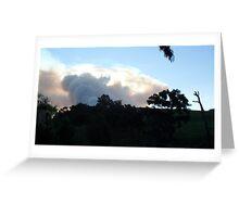 smoke ball from a bush fire Greeting Card