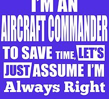 I'm An AIRCRAFT COMMANDER To Save Time, Let's Just Assume I'm Always Right by fancytees