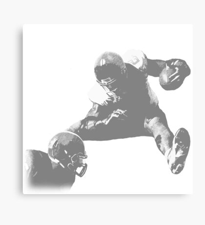 Hurdling Football Player Collection Canvas Print
