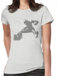 Hurdling Football Player Collection Womens Fitted T-Shirt