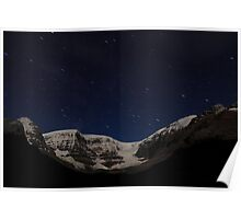 Stars above glacier Poster