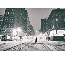Snowstorm - New York City Photographic Print
