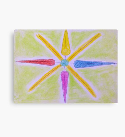 Multi Coloured Golden Star Canvas Print