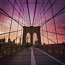 Brooklyn Bridge Sunset by Vivienne Gucwa