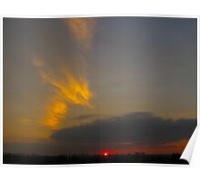 Exclamation Sunset! Poster