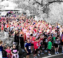 Sea Of Pink!! Breast Cancer Run!! by tuffcookie