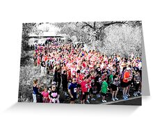 Sea Of Pink!! Breast Cancer Run!! Greeting Card