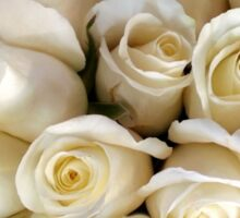 Candle Light Bouquet ~ White Roses Sticker