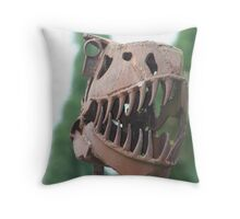 Scrap-metal-a-saurus Throw Pillow
