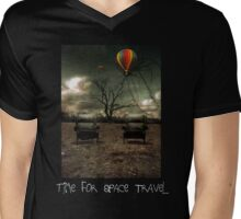 Time For Space Travel Shirt Mens V-Neck T-Shirt
