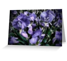 Abstract flowers. Greeting Card