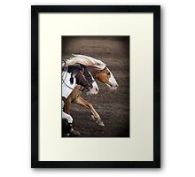 The Outlaw and The Law Framed Print