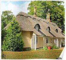 Thatched Cottage. Old Warden, U.K. Poster
