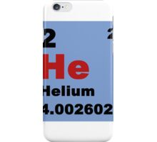 Periodic Table of Elements: No. 2 helium iPhone Case/Skin