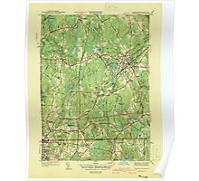 Massachusetts  USGS Historical Topo Map MA Franklin 351704 1940 31680 Poster