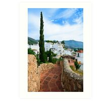 Greetings from the Costa del Sol / Spain Art Print