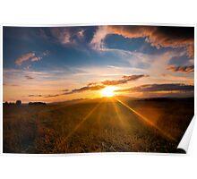 Pentlands sunset Poster