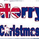 Aussie flag merry christmas card design! by Bernie Stronner