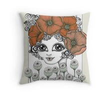 Charming Poppy Throw Pillow