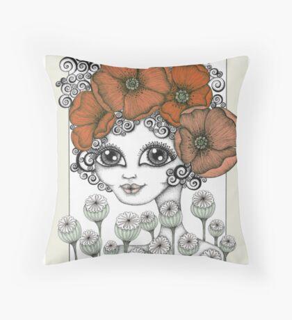 Charming Poppy Throw Pillow