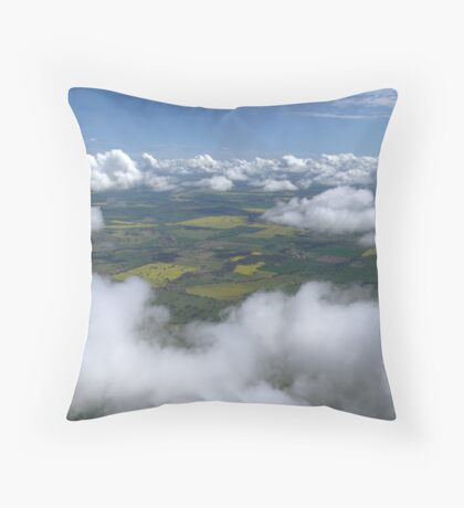 Spring Clouds Throw Pillow