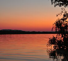 Kununurra River sunset by Karina  Cooper