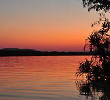 Kununurra River sunset by Karina  Cooper