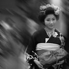 Maiko Nagoya Black and White by Sam Ryan