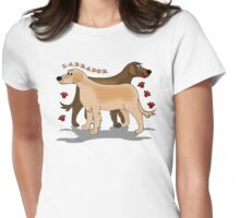 Labradors Womens Fitted T-Shirt