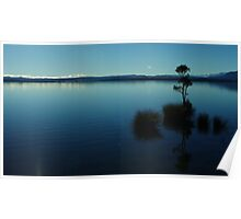 """""""muted silence""""   lake brunner, west coast, nz Poster"""