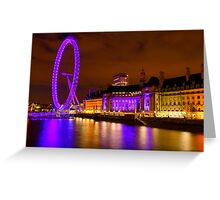 The London Eye & Aquarium at Night Greeting Card