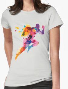 Running Man Womens Fitted T-Shirt