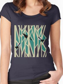 Tui and Fantail on Trees Women's Fitted Scoop T-Shirt