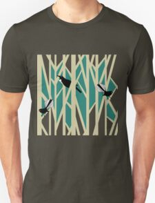 Tui and Fantail on Trees T-Shirt