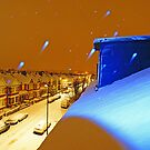 Christmas card from London - Night Snow by DavidGutierrez