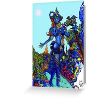 """""""Cyberian"""" Android Goddess MIX 1 Greeting Card"""